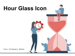 Hour Glass Icon Growth Arrow Innovation Target Achievement