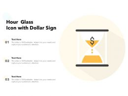 Hour Glass Icon With Dollar Sign