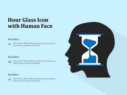 Hour Glass Icon With Human Face