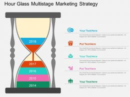 Hour Glass Multistage Marketing Strategy Flat Powerpoint Design