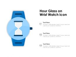 Hour Glass On Wrist Watch Icon