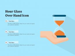 Hour Glass Over Hand Icon