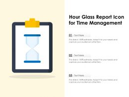Hour Glass Report Icon For Time Management