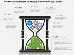 Hour Glass With Gears And Notes Finance Process Control Flat Powerpoint Design