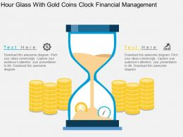 Hour Glass With Gold Coins Clock Financial Management Flat Powerpoint Design