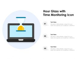 Hour Glass With Time Monitoring Icon