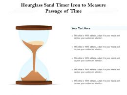 Hourglass Sand Timer Icon To Measure Passage Of Time