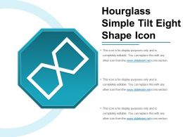 Hourglass Simple Tilt Eight Shape Icon