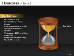 Hourglass Style 1 Powerpoint Presentation Slides DB