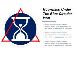 Hourglass Under The Blue Circular Icon