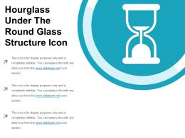 Hourglass Under The Round Glass Structure Icon