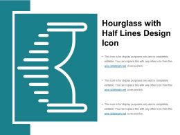 Hourglass With Half Lines Design Icon
