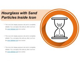 Hourglass With Sand Particles Inside Icon