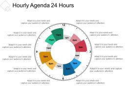 Hourly Agenda 24 Hours Presentation Pictures
