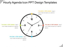 Hourly Agenda Icon Ppt Design Templates