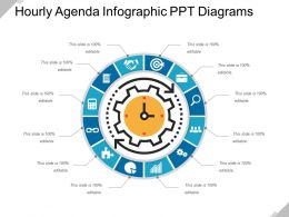 Hourly Agenda Infographic PPT Diagrams