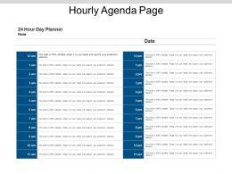 Hourly Agenda Page Powerpoint Templates