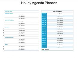 Hourly Agenda Planner Powerpoint Graphics