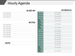 Hourly Agenda Powerpoint Presentation