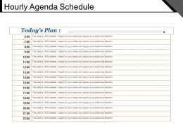Hourly Agenda Schedule Powerpoint Ideas