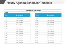 Hourly Agenda Scheduler Template Powerpoint Images