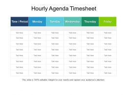 Hourly Agenda Timesheet Powerpoint Layout