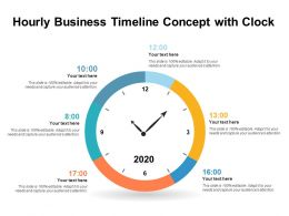 Hourly Business Timeline Concept With Clock