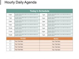 Hourly Daily Agenda Powerpoint Shapes