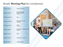Hourly Meeting Plan For A Conference