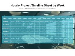 Hourly Project Timeline Sheet By Week