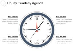 Hourly Quarterly Agenda Presentation Visuals