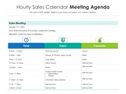 Hourly Sales Calendar Meeting Agenda
