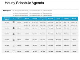 Hourly Schedule Agenda Powerpoint Show