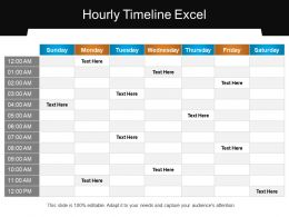 Hourly Timeline Excel Presentation Backgrounds
