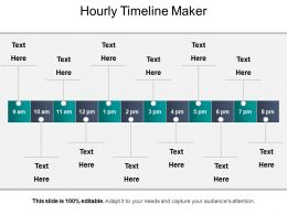 Hourly Timeline Maker Presentation Graphics