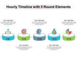 Hourly Timeline With 5 Round Elements
