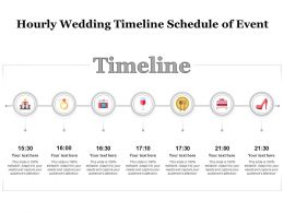 Hourly Wedding Timeline Schedule Of Event