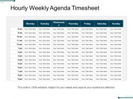 Hourly Weekly Agenda Timesheet Powerpoint Slide Clipart