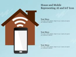 House And Mobile Representing AI And IoT Icon
