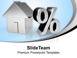 House And Percent Symbol Image Percent Powerpoint Templates Ppt Themes And Graphics 0113