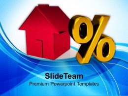 House And Percent Symbol Investment Powerpoint Templates Ppt Themes And Graphics