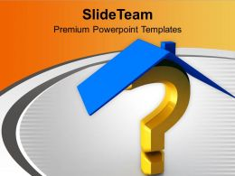 House And Question Mark Security PowerPoint Templates PPT Themes And Graphics 0213