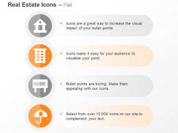 House Apartment Signboard Umbrella Ppt Icons Graphics
