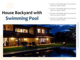 House Backyard With Swimming Pool