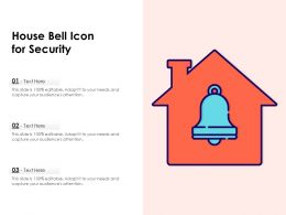 House Bell Icon For Security