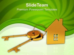 House Connected With Keys Real Estate Powerpoint Templates PPT Themes And Graphics 0113