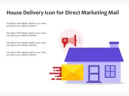 House Delivery Icon For Direct Marketing Mail