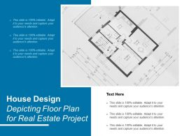 House Design Depicting Floor Plan For Real Estate Project