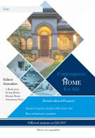House For Sale Brochure Two Page Flyer Template
