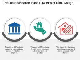 House Foundation Icons Powerpoint Slide Design